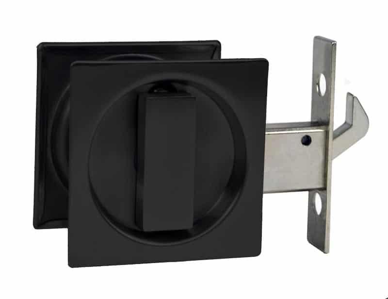 Matte Black Sq Cavity Slider Lock The Lock And Handle