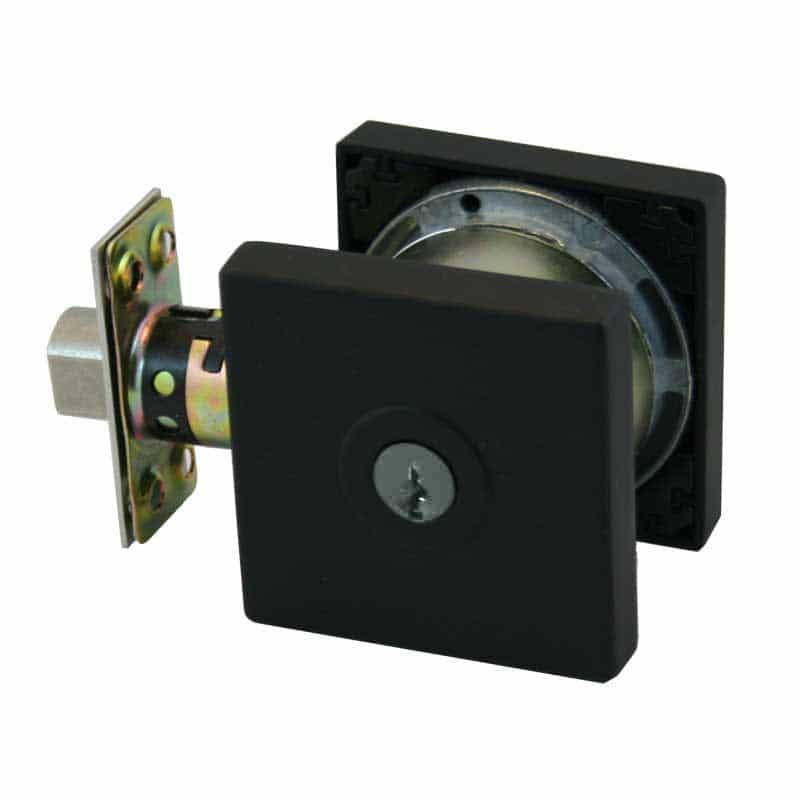 Matte Black Square 005 Paradigm Lock Deadlock
