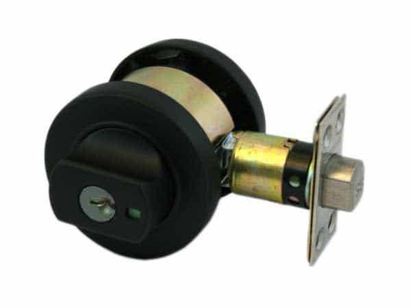 matte black lock
