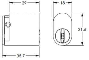 570 oval cylinder