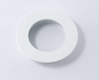 Flush Pull – Round – Satin White (Each)