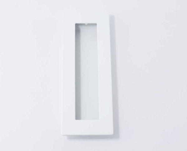 Rectangular flush pull - white
