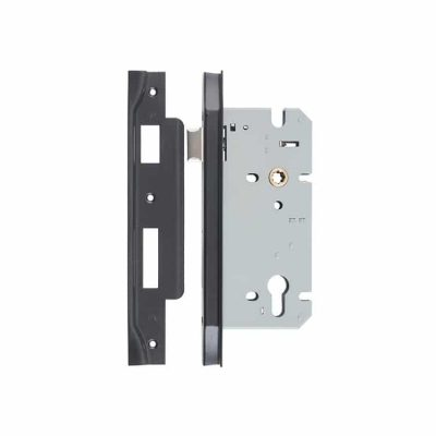 Black Italian Style Mortice Lock – Rebate Left Hand