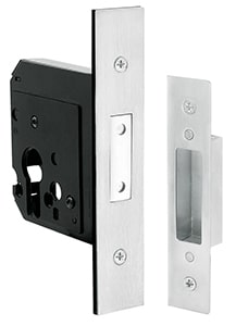 Swinging Door Mortice Lock – 60mm Backset – Stainless Steel
