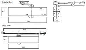 Yale A2600 hydraulic door closer