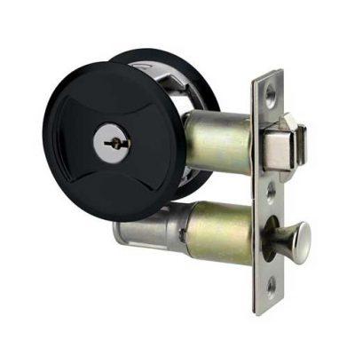 Lockwood Cavity Sliding Door Key Lock - Matte Black