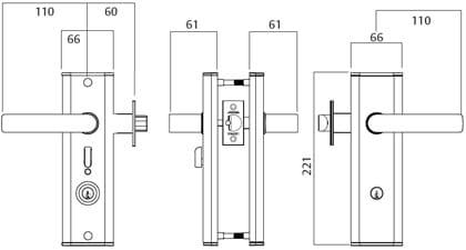 Nexion Mechanical Entry Lockset - Hakea lever #28 - Brushed Chrome
