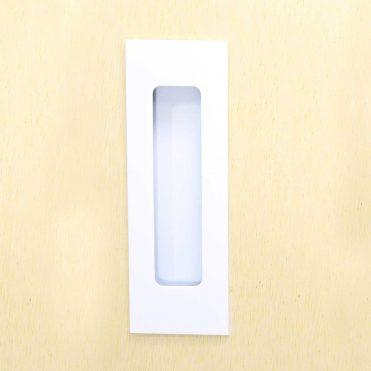 Milos Flush Pull 124mm- Satin White (Each)