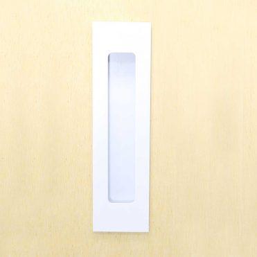 Milos Flush Pull 156mm- Satin White (Each)
