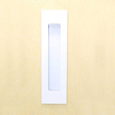 Milos - Flush Pull Handle - 156mm X 42mm - Satin White (Each)