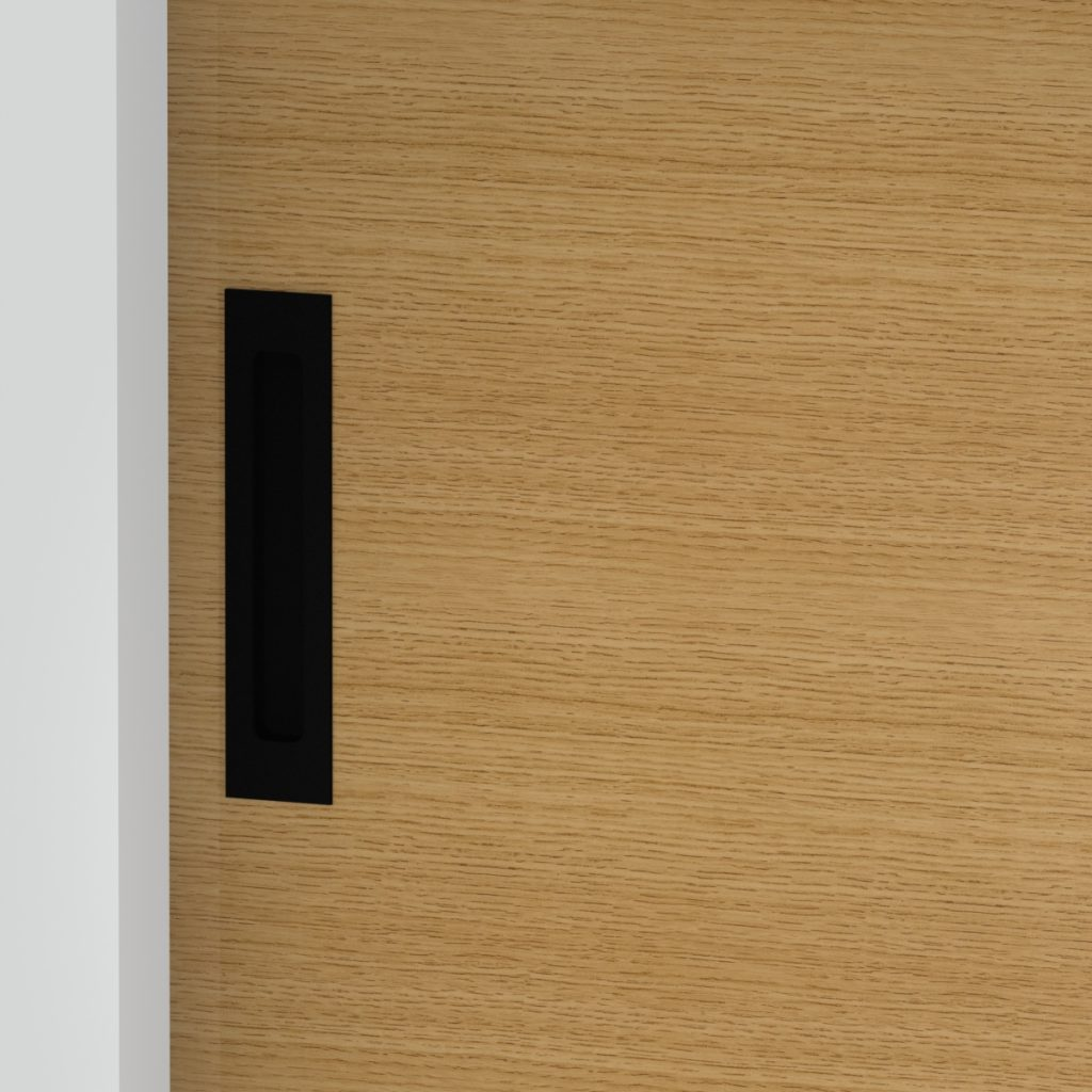 recessed flush pull for sliding door - matte black