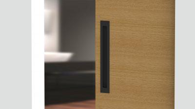 Milos Flush Pull - Matte Black (Each) - 316