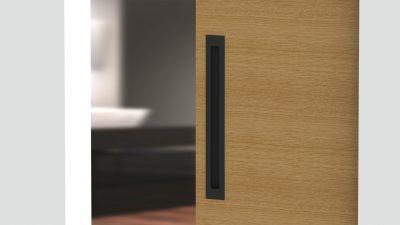 Milos Flush Pull - Matte Black (Each) - 348