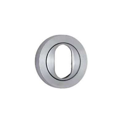 Escutcheon – Oval – Round – Brushed Stainless Steel (Each)