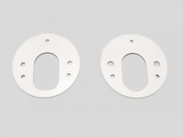Spacer Plates – Round – ∅60mm – Satin White (Pair)