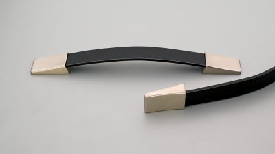 BlackLeather and Zinc Handle 160mm C to C