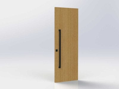 Pull Handle Entrance Set – 1200mm – Matte Black
