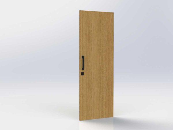 Pull Handle Entrance Set – 300mm – Matte Black