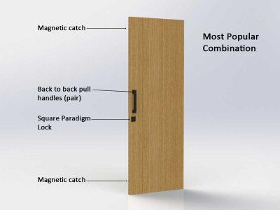 Pull Handle Entrance Set - 300mm - Matte Black