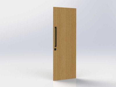 Pull Handle Entrance Set | 630mm | Matte Black