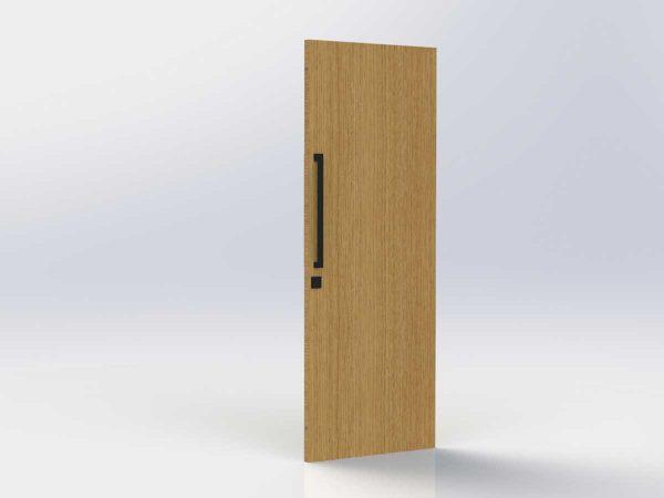 Pull Handle Entrance Set – 630mm – Matte Black