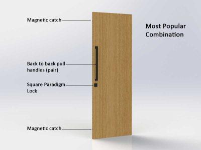 Pull Handle Entrance Set - 630mm - Matte Black