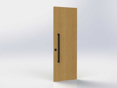 Pull Handle Entrance Set | 900mm | Matte Black