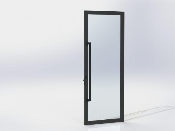 1200 Offset Pull Handle Entrance Set For aluminium Doors – Matte Black