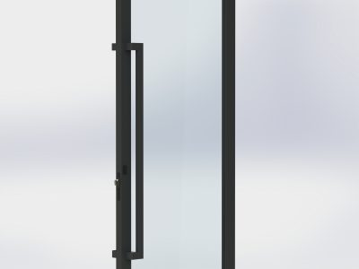 1200 long offset pull handles matt black