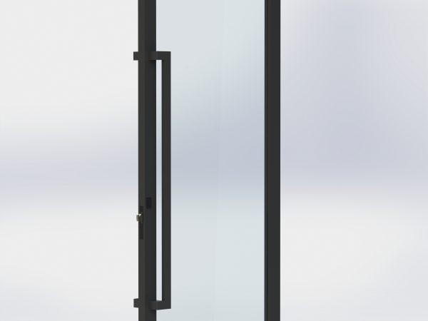 1200 long offset pull handles matt black
