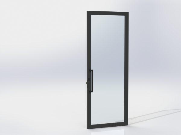 Pull Handle Entrance Set For Aluminium Doors – 450 Offset – Matte Black