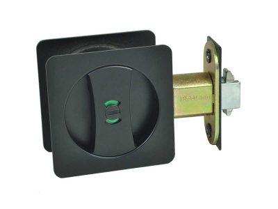 square cavity sliding privacy lock matte black