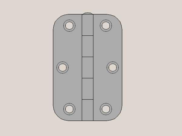 Radius Hinge Selection – Matte Brushed Nickel