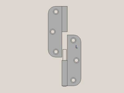 Radius Hinge | Lift Off | Left Hand | Matte Brushed Nickel