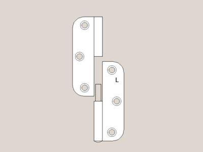 Radius Hinge Selection - Satin White