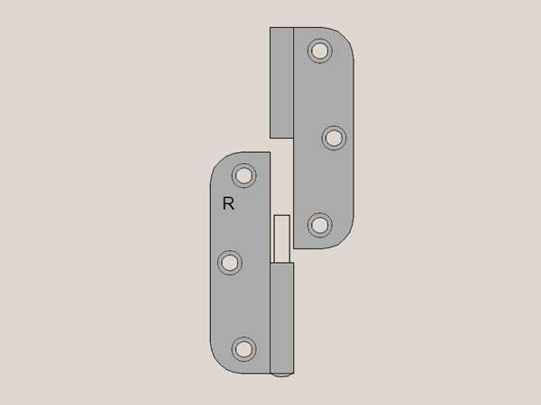 Radius Hinge Selection - Matte Brushed Nickel