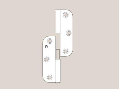Lift off radius hinge white