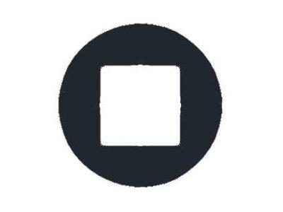 Tradies Backplate (pair) | Round | Passage | Matte Black