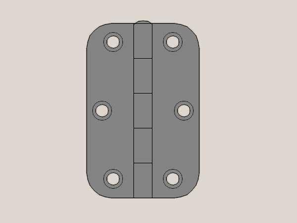radius hinge gunmetal