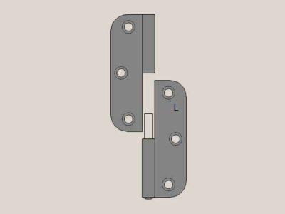 Radius Hinge | Lift Off | Left Hand | Gunmetal