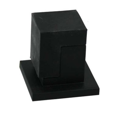 Door Stop - Floor Mounted - Square - Matte Black