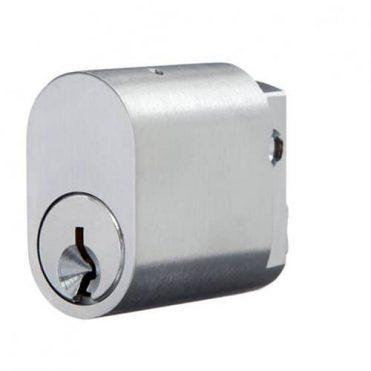 Oval - Cylinder - Satin Chrome