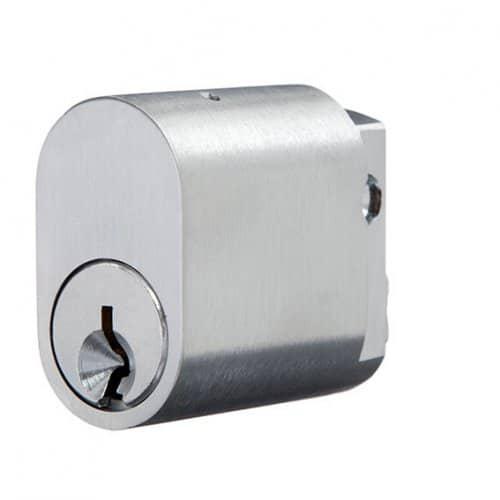 Oval – Cylinder – Satin Chrome