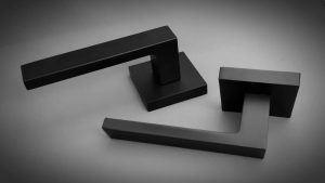 square matte black handle