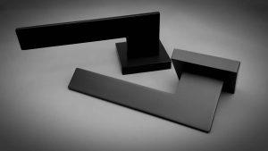 matte black handle