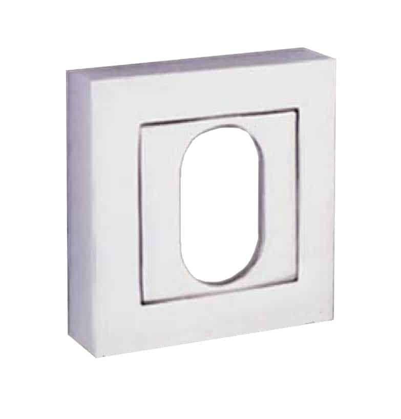 Square Oval Escutcheon / pair